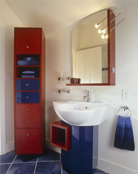 red and white bathroom red white and blue modern bathrooms lonny