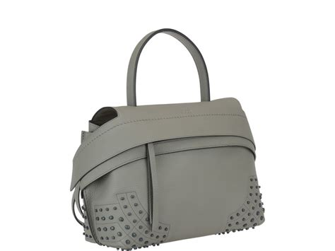 Tods Small Wave Bag In Navy Calf 1 tod s tod s medium wave bag grey s bags italist