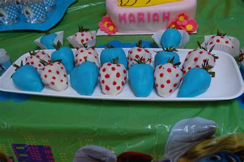 smurf decorations for birthday