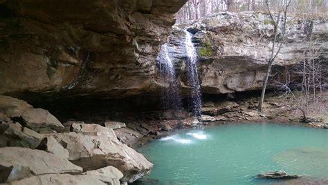 bork falls   natural waterfall swimming hole  illinois