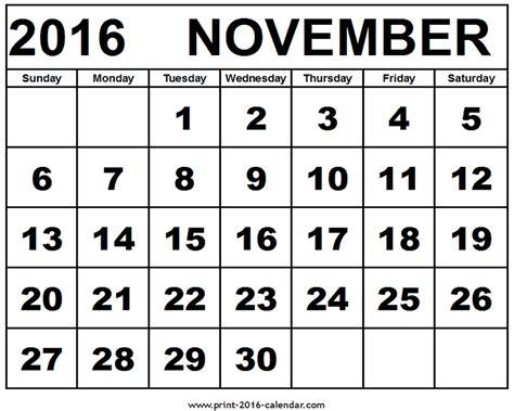 calendar of month of november calendar template 2016 november 2016 calendar