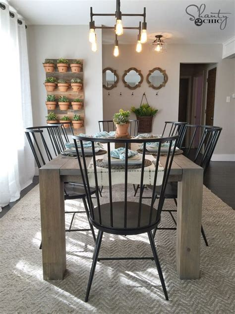 farmhouse dining room table best 25 modern farmhouse table ideas on