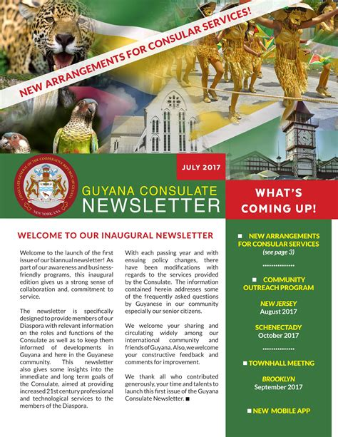 Embassy Newsletter Guyana Consulate Newsletter July 2017 Ministry Of Foreign Affairs Co Operative Republic Of