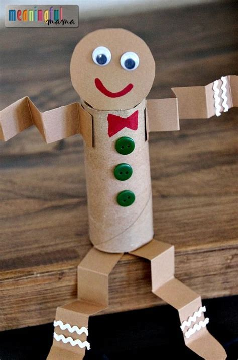 Recycled Toilet Paper Roll Crafts - my toilet paper roll gingerbread craft is yet another