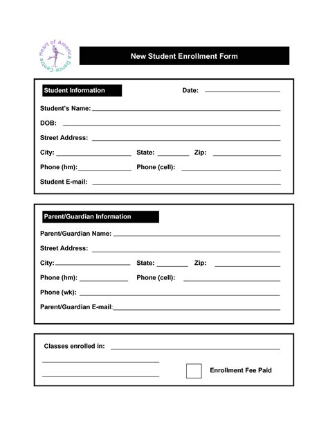 enrollment form template word enrollment quotes quotesgram