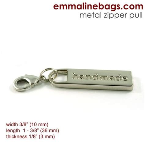 Handmade Zipper Pulls - nickel zipper pulls quot handmade quot exclusive to emmaline