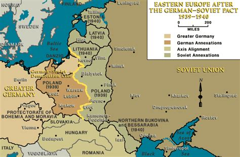 1940 map of europe eastern europe after the german soviet pact 1939 1940
