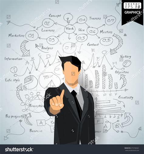 thinking pattern en francais businessman thinking modern idea concept vector stock