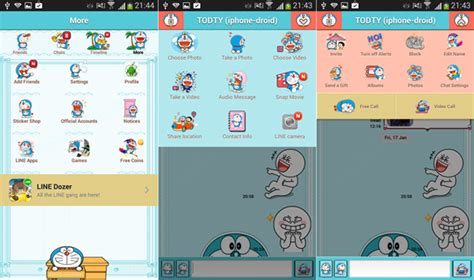 theme line android japan doraemon for android 3 10 iphone droid