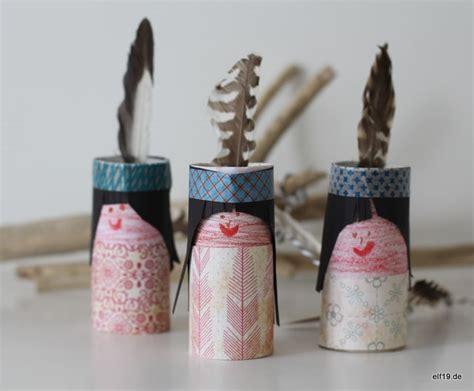 indianer aus toilettenpapierrolle handmade kultur