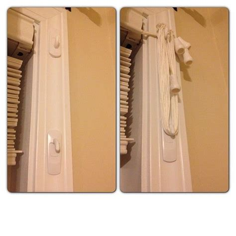 Command Hooks For Curtains Blind Cord Management Wrap The Cord Around Two Command Hooks Keeps The Cords High And Safely