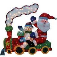outdoor christmas tinsel train decoration at kmart com