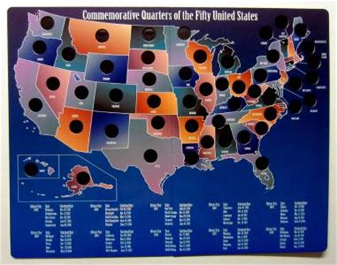 state quarters of the united states collectors map value commemorative quarters of the 50 fifty united states
