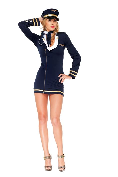 womens costumes mile high maiden navy officer deluxe