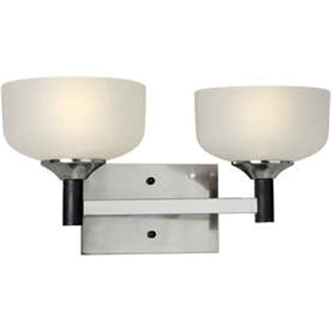 shop 2 light black brushed nickel bathroom vanity light at
