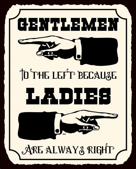 funny bathroom signs to print ladies are always right vintage metal art funny bathroom