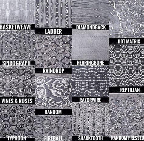 damascus steel pattern types csgo damascus patterns knife making pinterest damascus