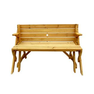 leisure bench ltd leisure season ltd convertible picnic table garden bench
