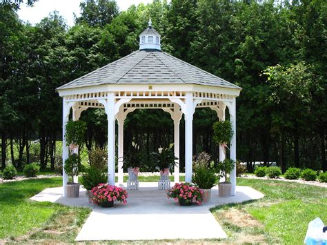white gazebos are not just for weddings they really are a very strikingly attractive structure