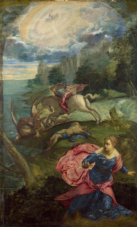 saint george and the dragon st george and the dragon tintoretto biblioklept