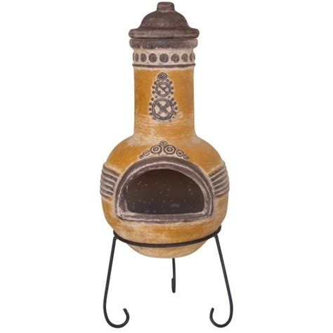 azteca mexican clay chimenea patio heater savvysurf co uk