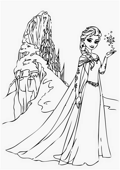 queen elsa coloring pages free elsas castle coloring pages sketch coloring page