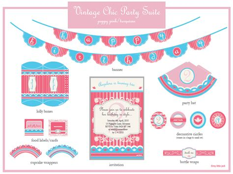 printable birthday decorations online giveaway custom party package pizzazzerie