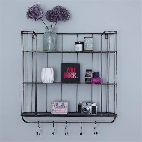 three shelf metal wall rack by primrose plum