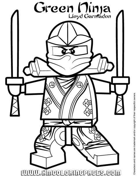 free coloring pages of ninjago paint