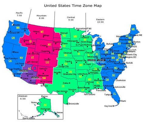 printable united states map with time zones and state names map of time zones in north america truck drivers are on