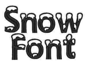 snow covered letters machine embroidery designs snow font set