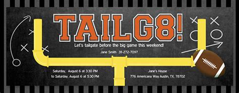 Tailgating Party Online Free Invitations Evite Com Tailgate Template