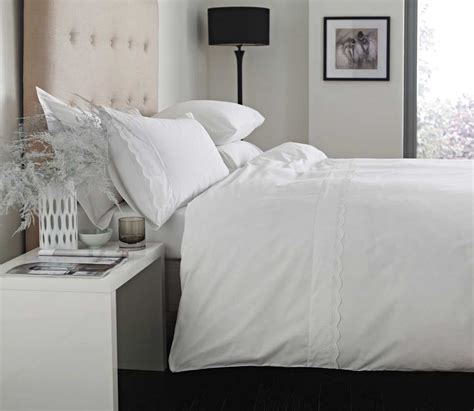 broderie anglaise bed linen 100 cotton white broderie anglaise lace edged bedding