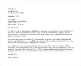 Bank Letter Of Resignation 13 Employee Resignation Letter Templates Free Sle