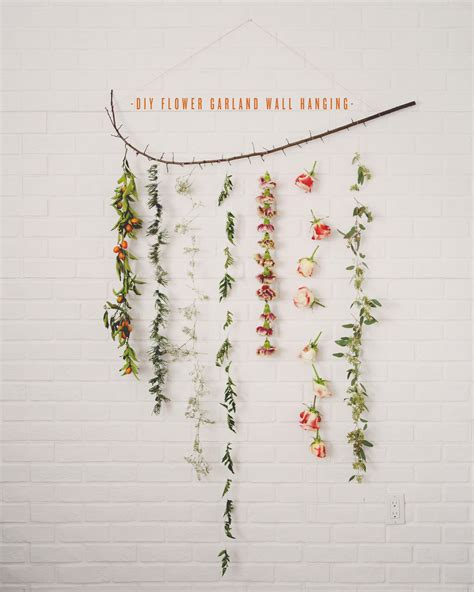 Tree Branch Banister Diy Flower Garland Wall Hanging The Kitchy Kitchen