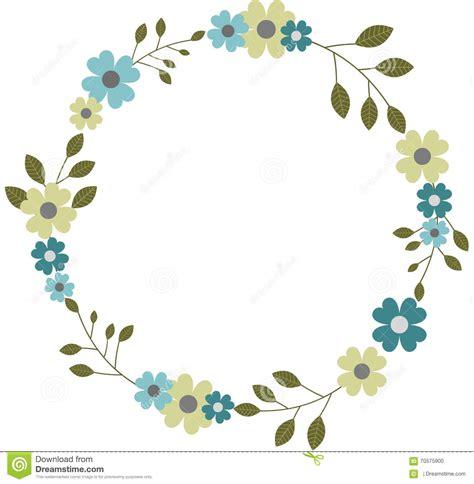 Autumn Wreaths by Circular Floral Frame Wreath Garland Round Flower Frame