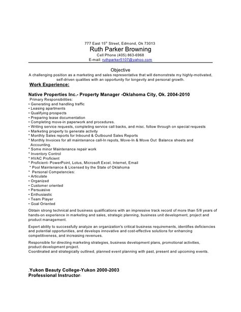 resume examples management lovely property manager resume sample