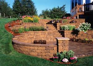 retaining wall design ideas corner