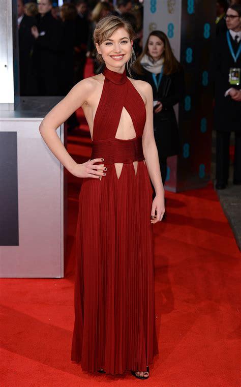 Catwalk To Carpet Bafta Awards by Imogen Poots On The 2014 Bafta Carpet S Other