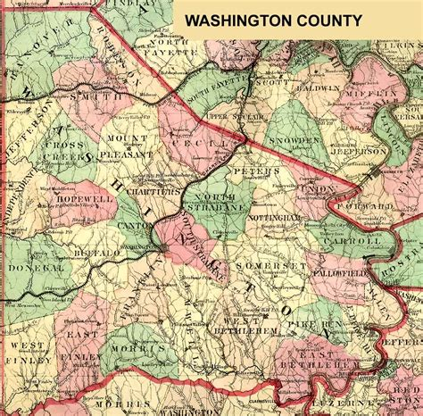 washington county map washington county pennsylvania maps and gazetteers