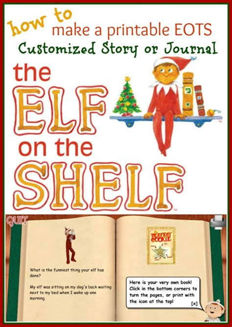 printable elf story how to write print your own elf on the shelf story