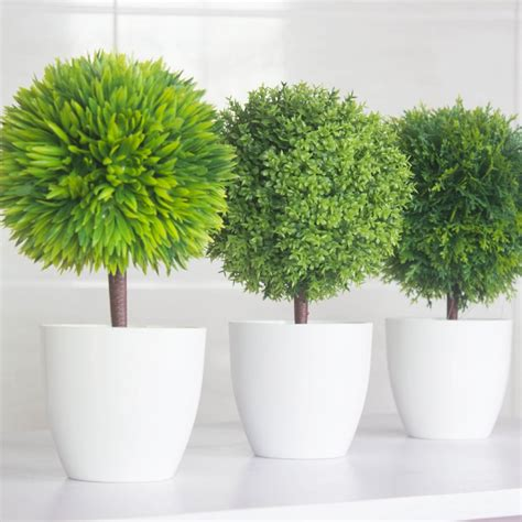plant used as decoration new green plants set home interior decoration plastic flower with vase table display flower