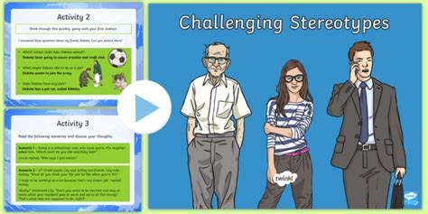 challenging stereotypes powerpoint ks2 stereotypes