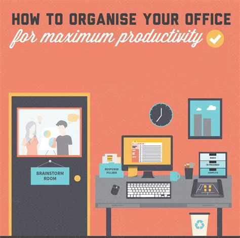how to organise your office to improve productivity make