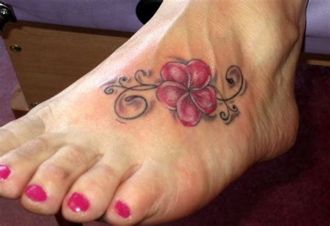 small foot flower tattoos 100 s of hawaiian flower design ideas pictures gallery