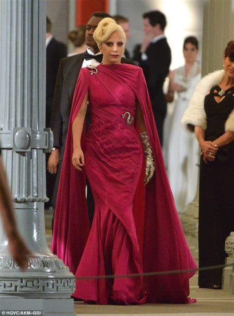 lady gaga is ultimate bridezilla as the countess in lady gaga flashes underwear in see through outfit and
