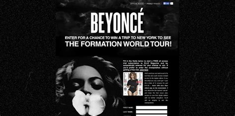 All You Magazine Sweepstakes - elle com beyonceformation elle magazine beyonce formation tour sweepstakes