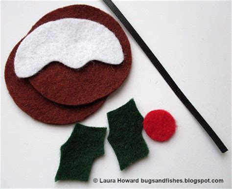 pattern for felt christmas pudding bugs and fishes by lupin felt ornament how to 3