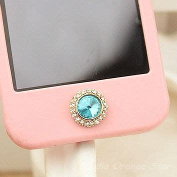 Painting Pink Home Button Samsung Homebutoon Sticker 1pc bling paved manmade blue from studioorangestar on