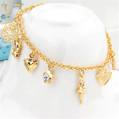 Cross Bracelets For Women Fashion Jewelry Free Shipping New Trendy 18K Real GoldPlatinum Plated